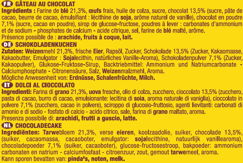 Savane Tout Chocolat Lot X2 - Ingrédients - fr