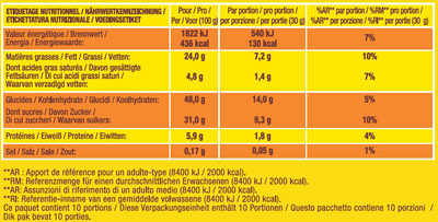 Savane Tout Chocolat Lot X2 - Informations nutritionnelles - fr