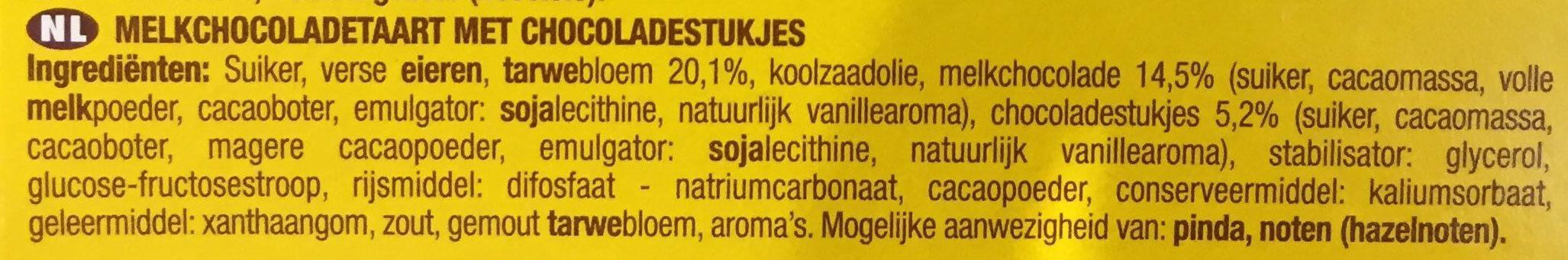Savane Chocolat au Lait et Pépites - Ingrediënten - nl