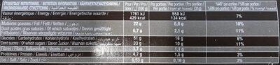 Crac&moi framboise x5 - Voedingswaarden - fr