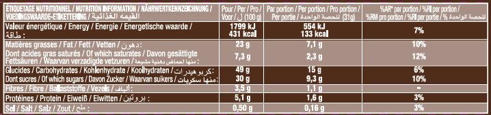 Crac & Moi Chocolat - Informations nutritionnelles - fr