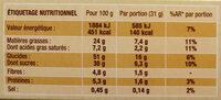 Crac&moi chocolat x5 - Informations nutritionnelles - fr