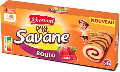 P'tit savane roulo fraise x6 150g -brossard - Produit - fr