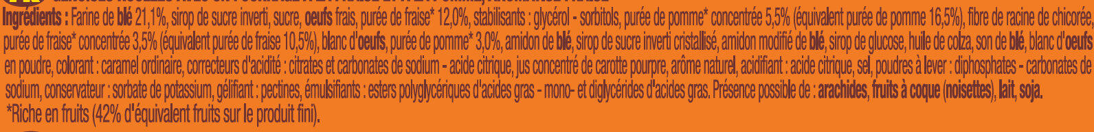 P'tit Savane roulo fraise - Ingrédients - fr