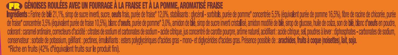 P'tit savane roulo fraise x6 150g -brossard - Ingrédients - fr