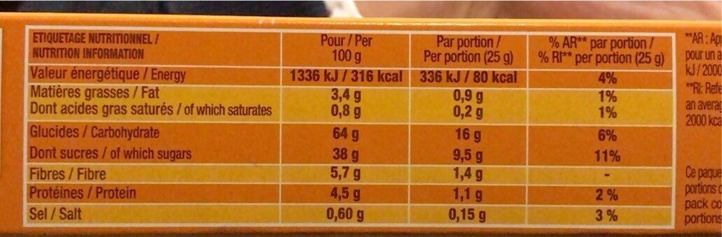 P'tit savane roulo fraise x6 150g -brossard - Informations nutritionnelles - fr