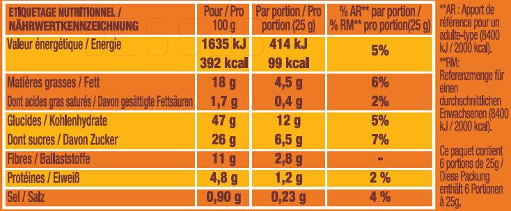 P'tit Savane duo - Informations nutritionnelles - fr