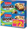 Brossard - lot 2 brookie choco noisettes x4 - Product