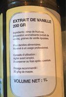 Extrait de vanille - Ingredients - fr