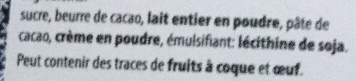 Calendrier de l'Avent Olympique Lyonnais - Ingrediënten - fr