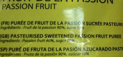Starfruit Passionfruit Puree 90% - Ingrédients - fr