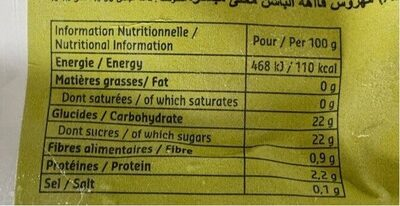 Starfruit Passionfruit Puree 90% - Informations nutritionnelles - fr