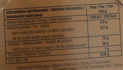 Marron glacés - Nutrition facts - fr