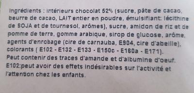 Dragées cœur pétale d'amour (vert tilleul) - Ingrédients - fr