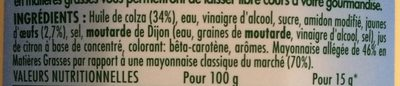 Mayonnaise légère - Ingrediënten