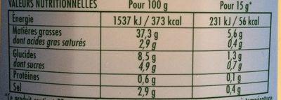 Mayonnaise légère - Voedingswaarden