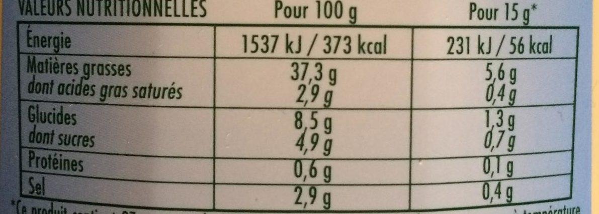 Mayonnaise légère - Voedingswaarden - fr