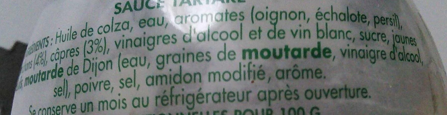 Tartare Sauce aux cornichons et aux câpres - Ingredienti - fr