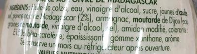 Sauce au poivre de madagascar - Ingredienti - fr