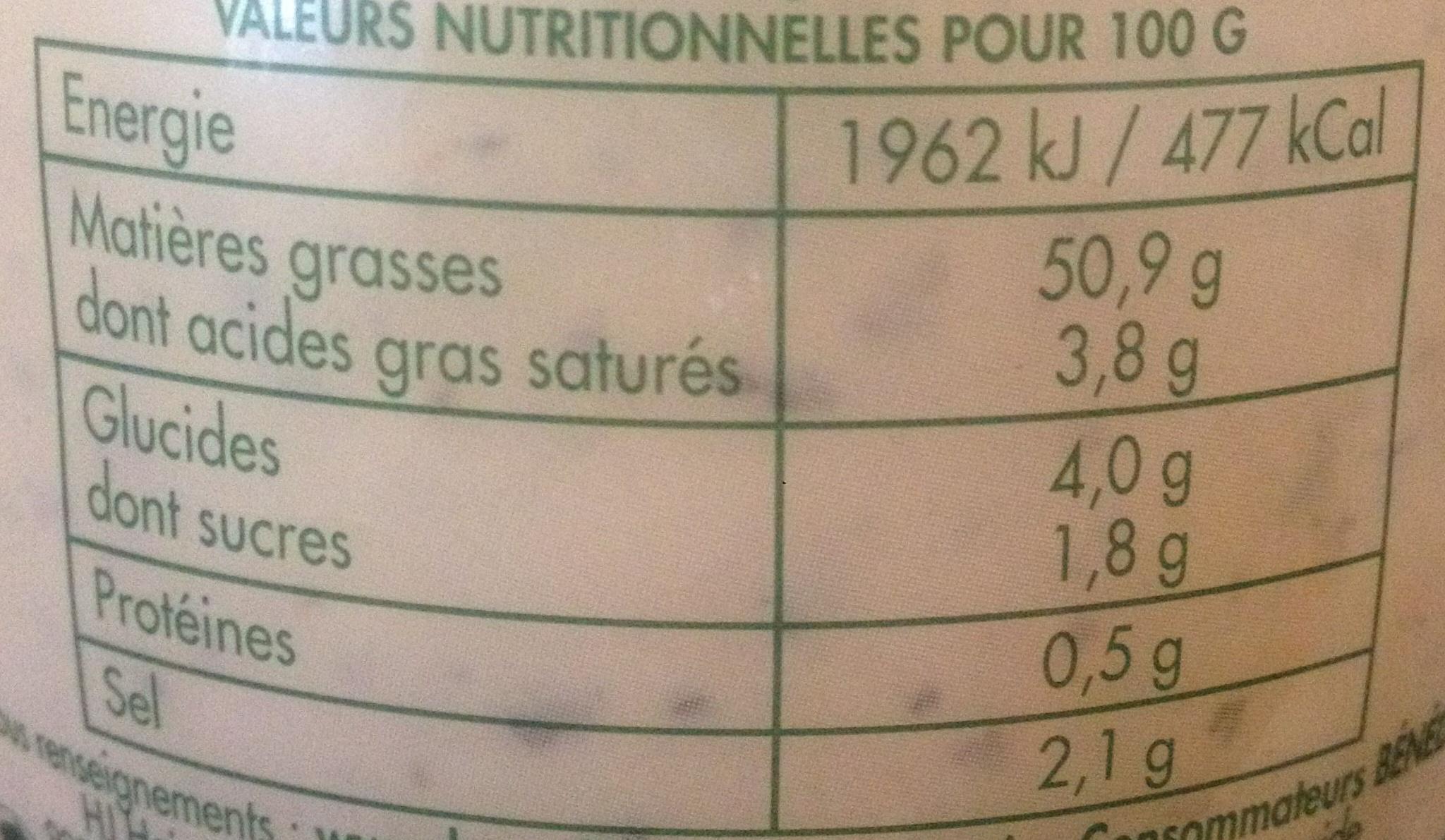 Sauce Béarnaise - Nutrition facts - fr