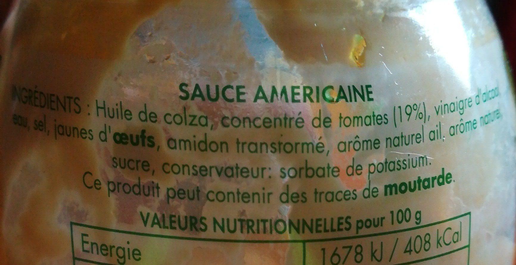 Dressing À L Américaine sauce américaine à la tomate - benedicta - 250 g