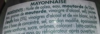 Mayonnaise Goût fin et délicat - Ingredienti - fr