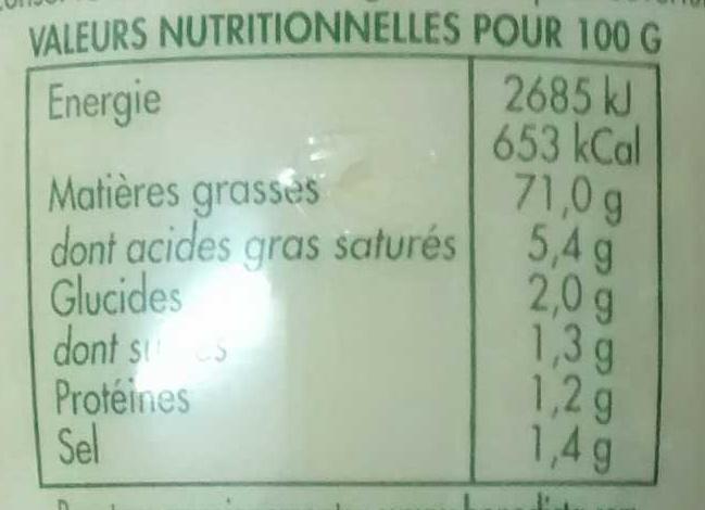 Mayonnaise Goût fin et délicat - Valori nutrizionali - fr