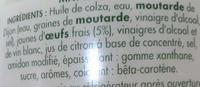 Mayonnaise aux oeufs frais - Ingrédients