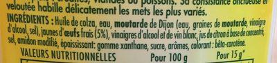 Mayonnaise - المكونات - fr