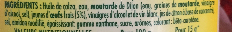 Mayonnaise - Ingredienti - fr