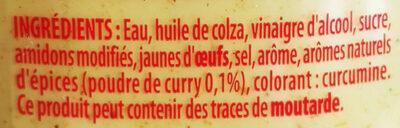 Sauce Curry - Ingredienti - fr