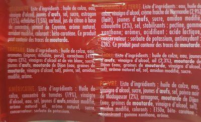Sauces party - Ingrediënten - fr