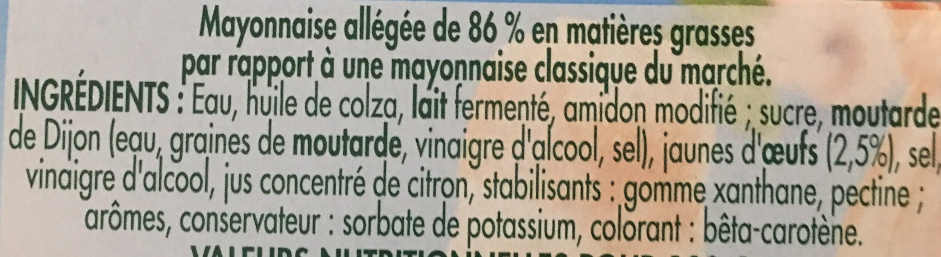 BENEDICTA - Ingredienti - fr