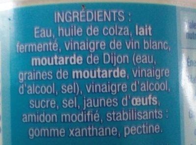 Sauce crudités nature légère - Ingrédients