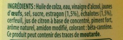 Sce Béarnaise Bénédicta - Ingredienti - fr