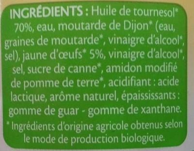 Mayonnaise Bio - Ingrédients - fr