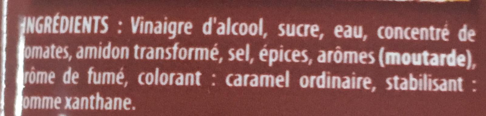 Sauce Barbecue (offre limitée) - Ingrédients