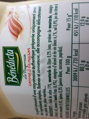 La mayonnaise comme à la maison - Ingrediënten - fr