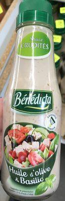 Sauce Crudités Huile d'olive & Basilic - Product