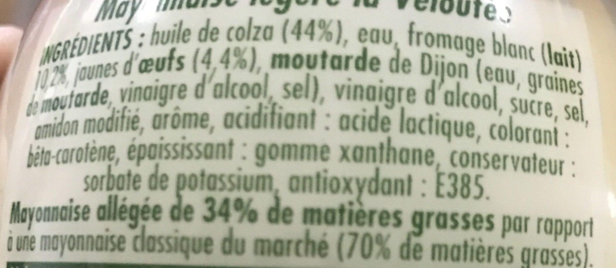 Mayonnaise La Veloutée - Ingrediënten - fr