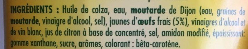 Mayo 255 g Bénédicta - Ingredienti - fr