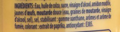 Sauce goût Cheddar Bacon - Ingrediënten