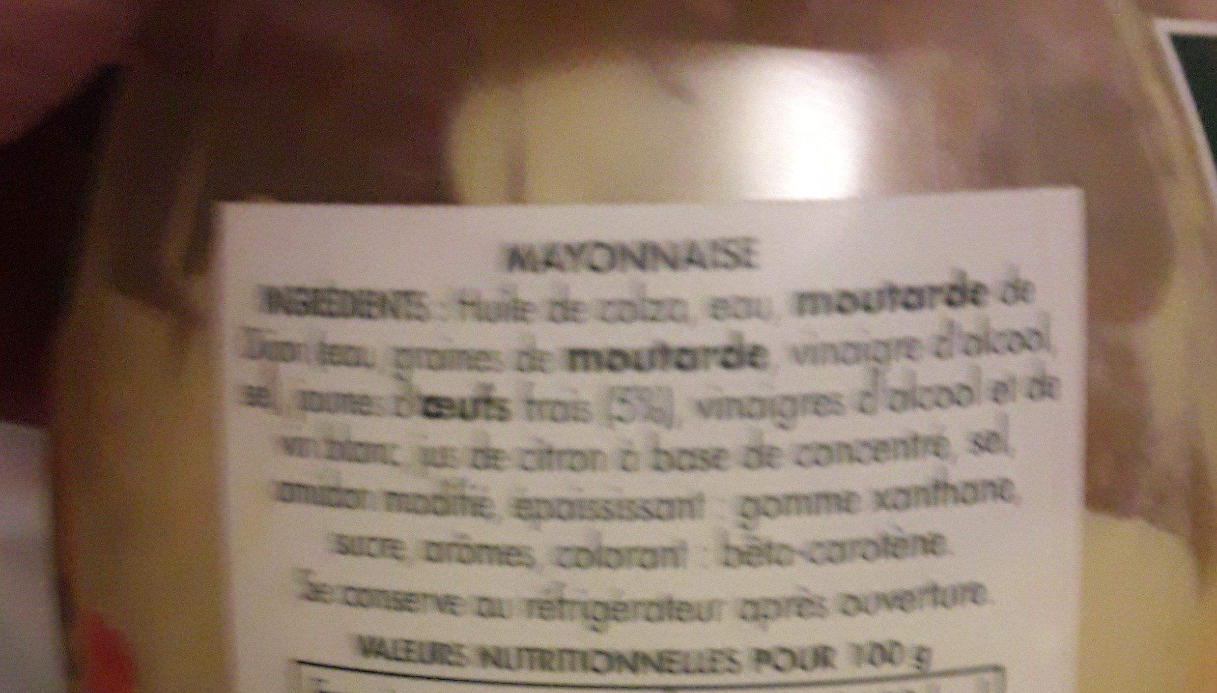 Mayo 770 g Bénédicta - Ingredients - fr
