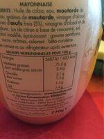 Mayo 770 g Bénédicta - Nutrition facts - fr