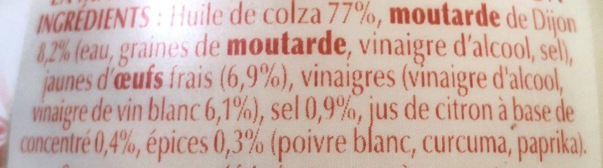Mayonnaise Bénédicta comme à la maison - Ingrediënten