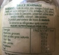 SAUCE BEARNAISE - Informazioni nutrizionali - fr