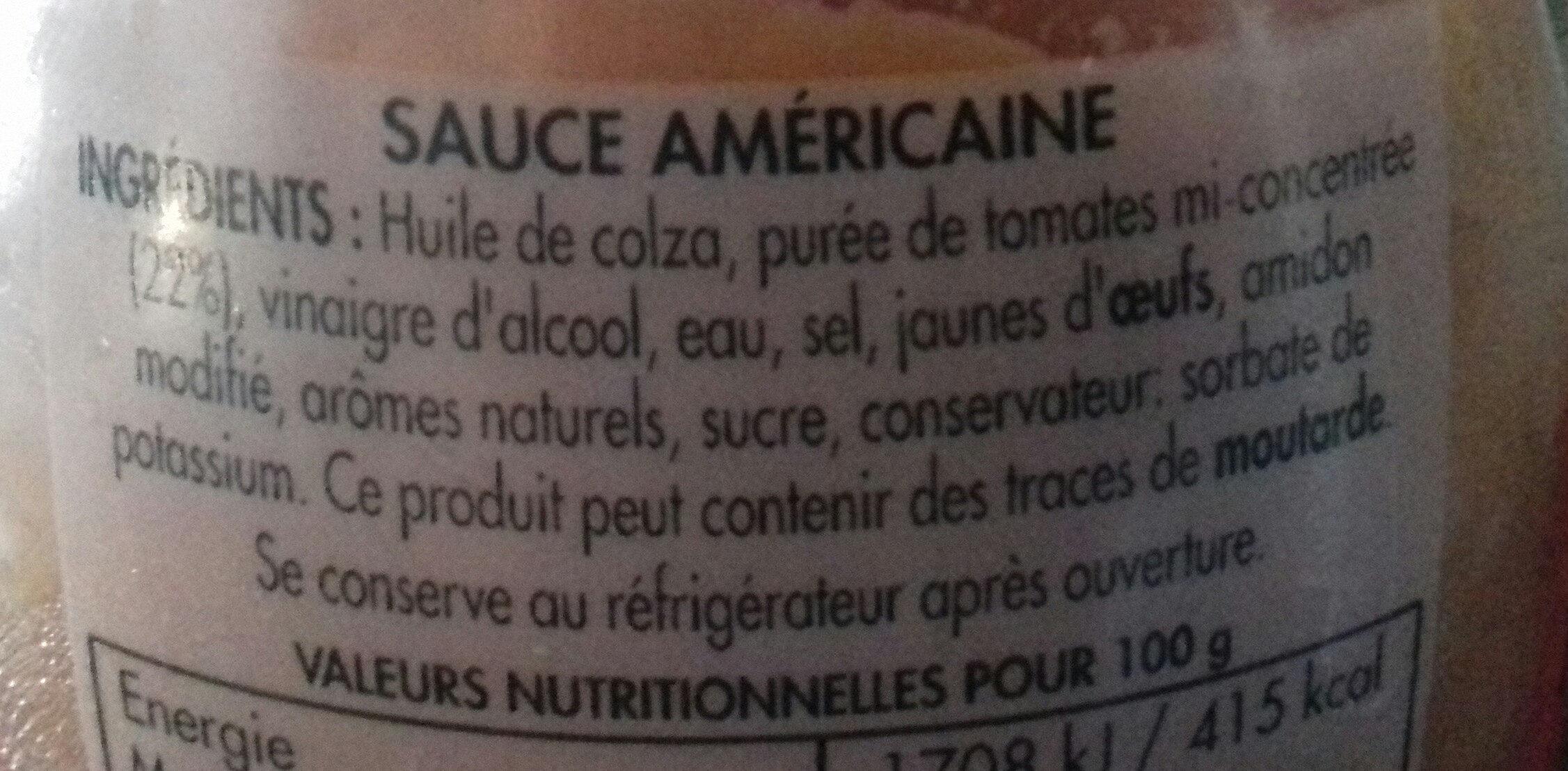 Sauce Américaine - Ingredienti - fr