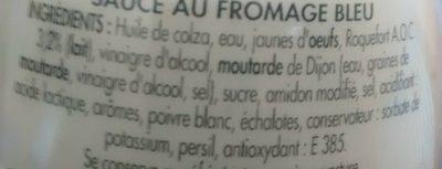 Bénédicta Sauce au bleu le pot de 260 g - Ingredientes