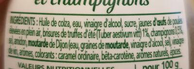 Sauce gourmet truffe d'été - Ingredienti - fr
