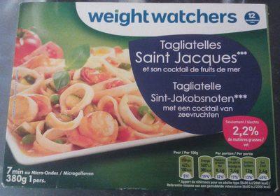 Tagliatelles Saint Jacques et son cocktail de fruits de mer - Product